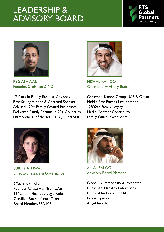 RTS GLOBAL PARTNERS | FAMILY BUSINESS ADVISORS | MANAGEMENT