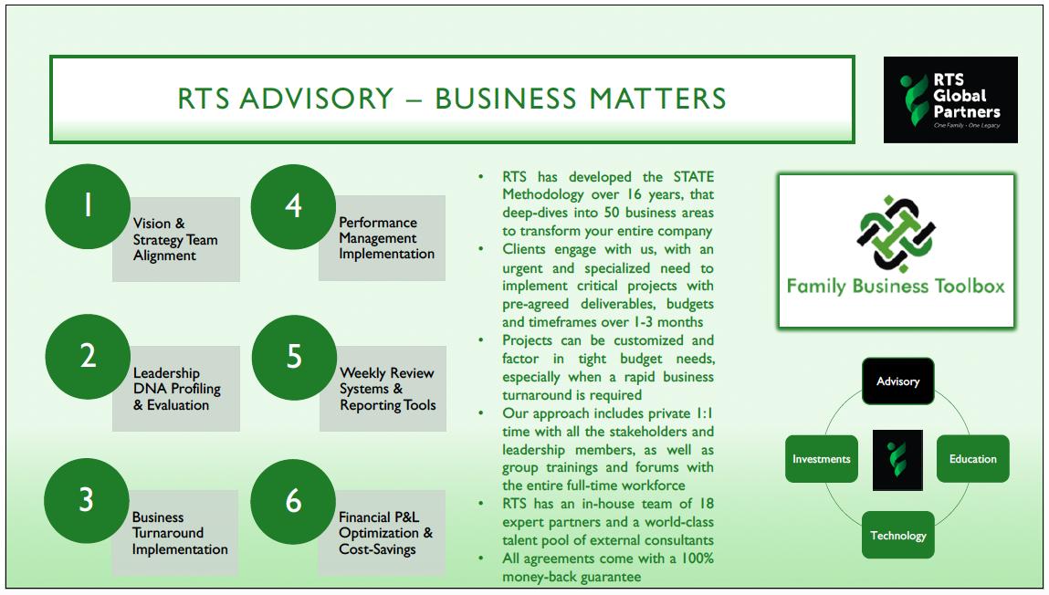 RTS Advisory Business Matters 2019