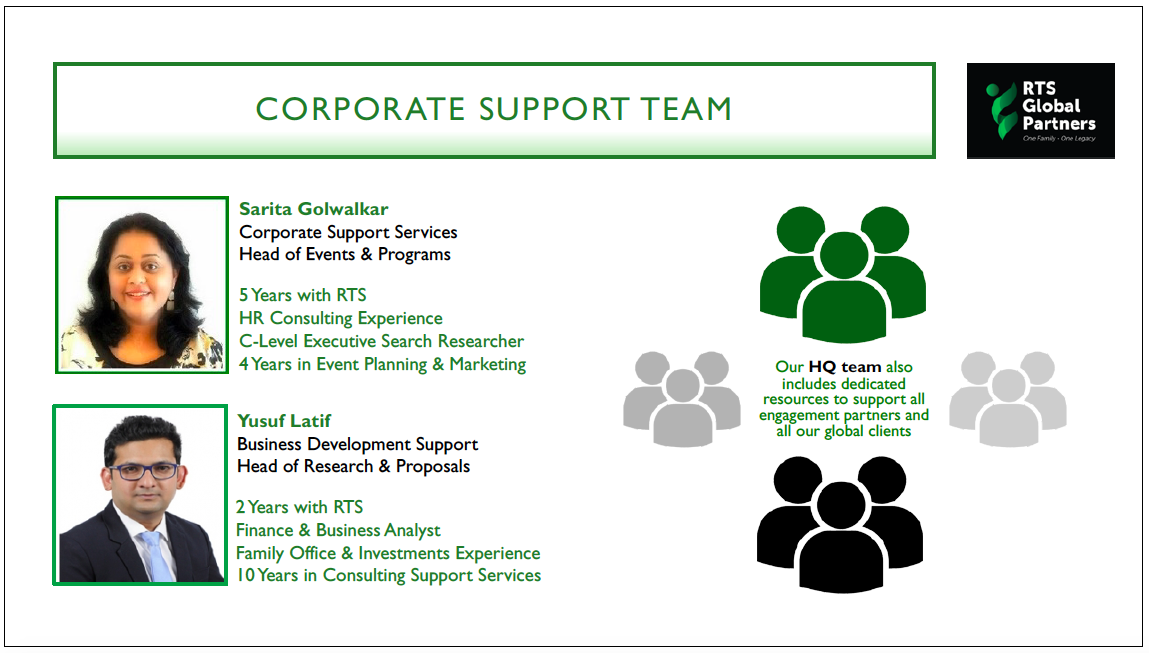 RTS Corporate Team