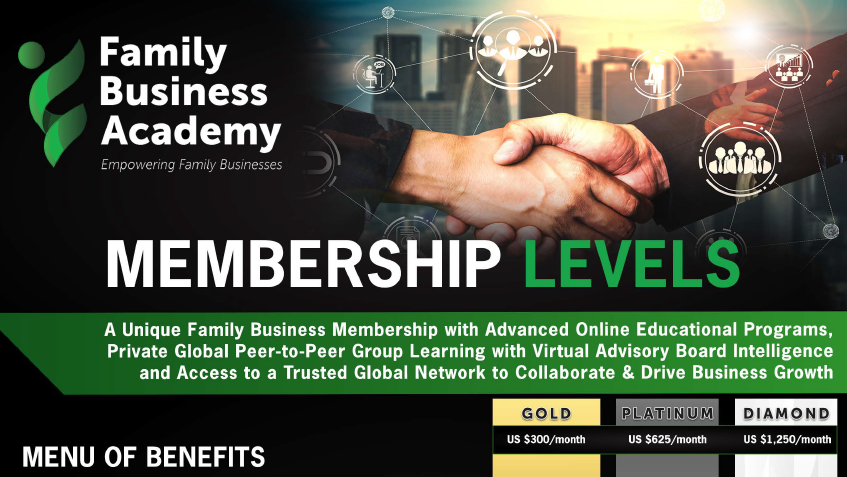 Family Business Academy - Membership Levels